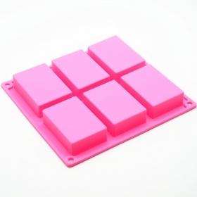 China Custom Silicone Molds For Soap Making, Silicone 6 Cavity Soap Molds factory