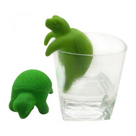 Customized Cute Design FDA Silicone Turtle Tea Infuser,Heat Resistant tortoise Tea Strainer