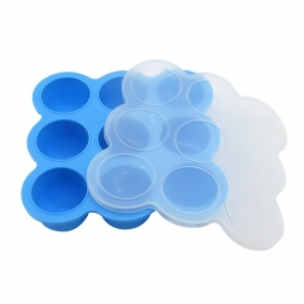 China FDA approved BPA free baby food freezer tray, silicone baby food storage factory
