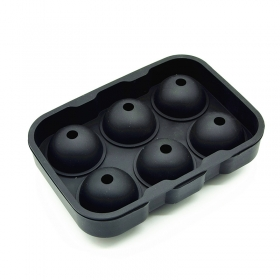 Factory Price Custom Logo 6 Cavity Food Grade Silicone Ice Ball Mould,1.75 inch ice ball Mold
