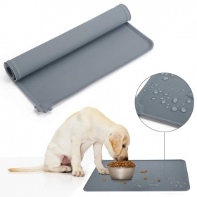 China Factory Supply Waterproof Silicone Pet Food Feeding Mat Anti-Slip Silicone Pet Food Mat factory