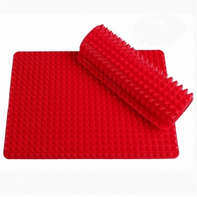 Fat Reducing Nonstick Silicone Pyramid Baking Mat for Healthy Cooking