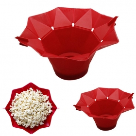Foldable Silicone Microwave Popcorn Popper / Popcorn Maker Factory, Collapsible Popcorn Bowl Supplier