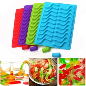 China Gummy Worms/bears Mold+2PS Dropper for Healthy Gummy Bears Making,DIY Candy, Halloween Gummy Chocolate factory