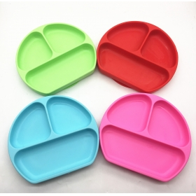 China Happy Face One-piece Non-slip Silicone Placemat for Kids, Baby Silicone Placemat factory