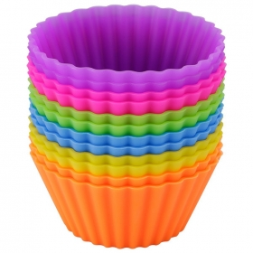 China Jumbo Large Muffin Cups FDA Silicone Baking Cups, silicone cupcake liners, silicone molds cakes factory