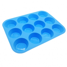 China Microwelle Safe 12 Cups Silikon Muffin Pan Cupcake Backform-Fabrik