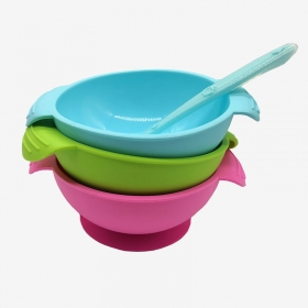China NEW FDA Approved Silicone Baby Food Bowl with Suction Cup factory