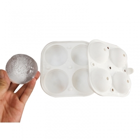 China New Design 4 pack compact Silicone ice ball maker,easy to take 2 inch ice ball mold factory