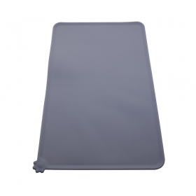 China New Listing Anti-Skid Flexible Food Grade Silicone Pet Mat, Large size Pet Pad wholesale factory