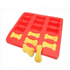 China Set of 2 Top Silicone Amazon Hot Bont Paw shape Pet Cookie Mold, Dog treat mould Wholesale factory