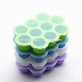 China Silicone Egg Bites Molds Reusable Storage Container and Freezer Tray with Lid factory
