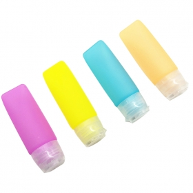 Wholesale Mini Silicone Squeeze Hand Sanitizer Bottle 35ml 65ml travel pocket hand gel bottle