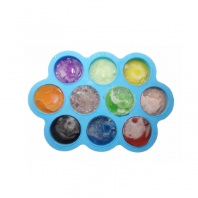 China Top silicone Factory Price 10 Cavity Baby Feeding Bowl, Infant Food Container factory