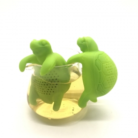 China Tortoise Design Silicone Loose Tea Infuser Silicone Tea Infuser Strainer factory