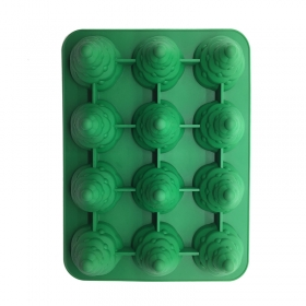 China Wholesale Factory Direct FDA Silicone DIY Christmas Tree cake mold, Christmas tree candle mold Jello Mold factory