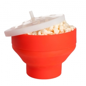China Wholesale Foldable Microwave Silicone Popcorn Maker FDA Silicone Popcorn Popper factory