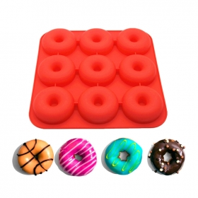 China Wholesale Silicone Dount Baking Mold Maker , Silicone Doughnut Bread Mold factory