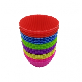 China Wholesale Silicone Muffin Top Baking Cups,12 Pack Nonstick Cupcake Liners factory