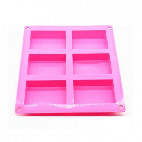 China Wholesale Silicone soap mold , 6 cavity silicone mold soap , cake mold factory