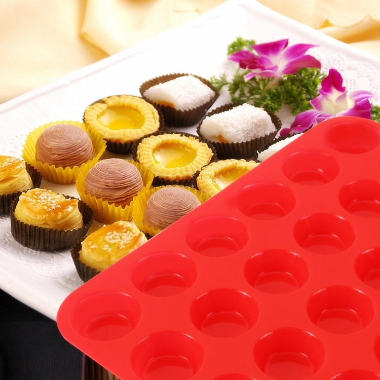 2 Packs Silicone Mini Muffin Pan 24 Cup Silicone Baking