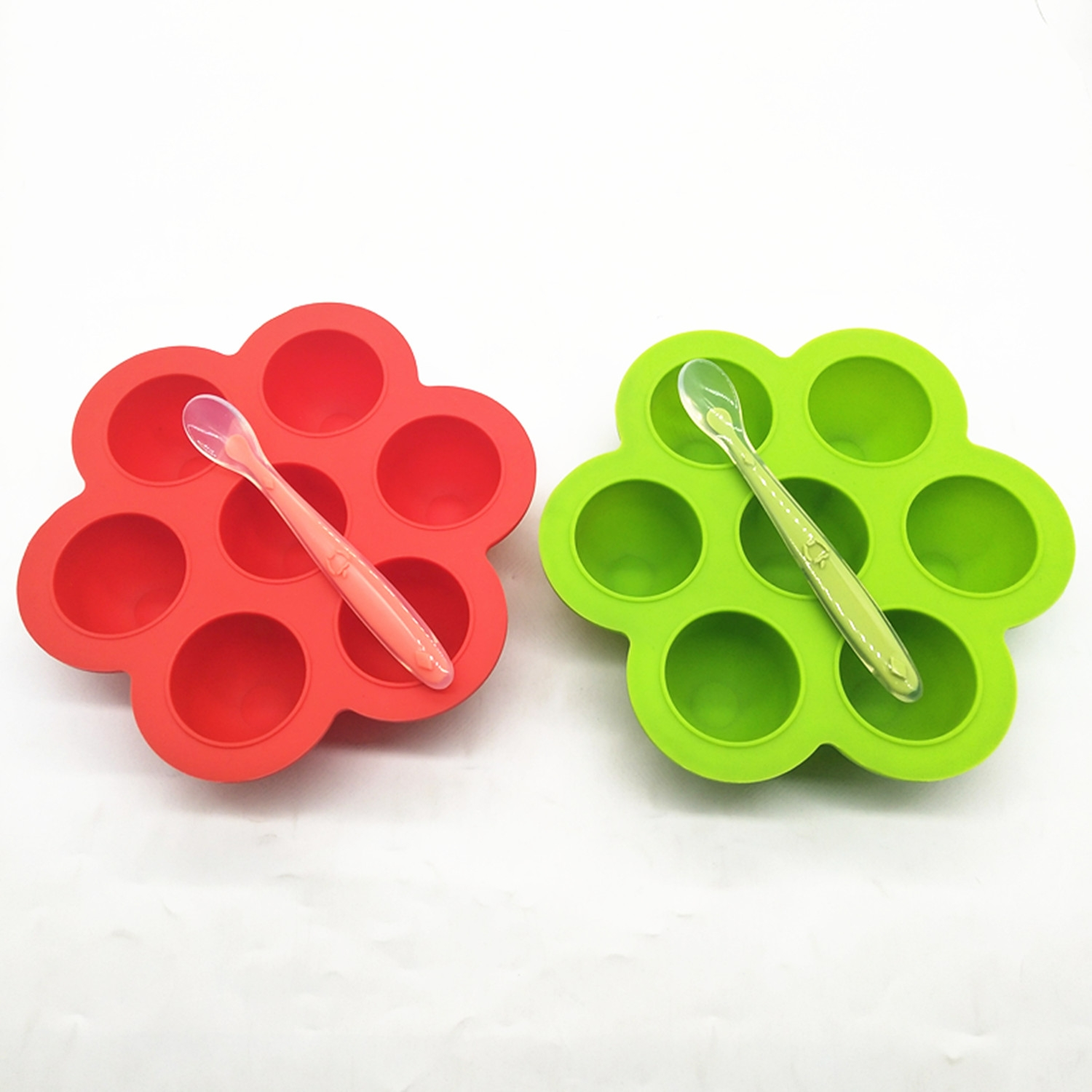 Food Use Silicone Baby Food Freezer Trays 2 Pack Silicone