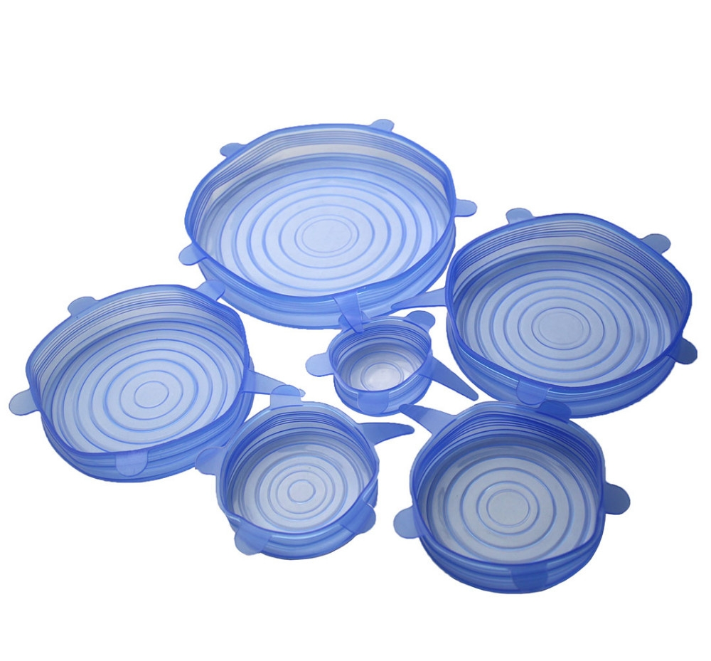 Multi Size 6pcs Reusable Silicone Stretch Lids Cover For