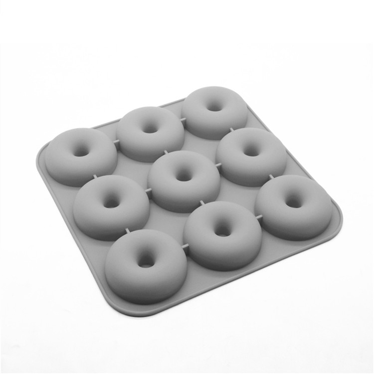 China Supplier Silicone Donut Mold 9 Cups Donut Pan
