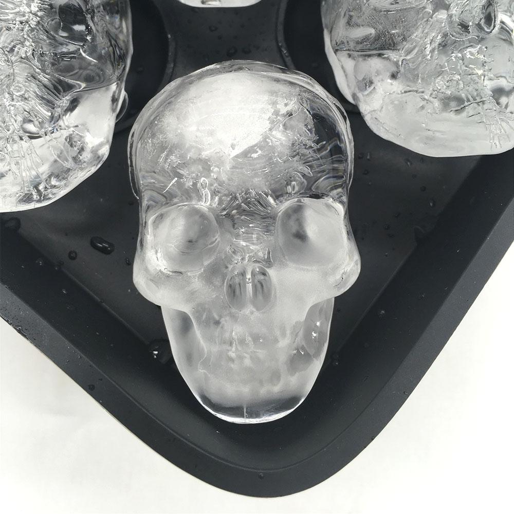 manufacturers new design 3d skull sphere ice ball maker, ice cube